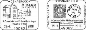 3. Osnabruecker Philatelistentage und 90. Vereinsjubilaeum