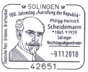 "Read more about the article Solingen: 100. Jahrestag der ""Ausrufung der Republik"""