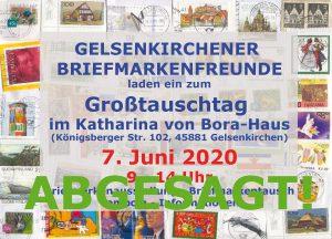 Read more about the article Grosstauschtag in Gelsenkirchen abgesagt