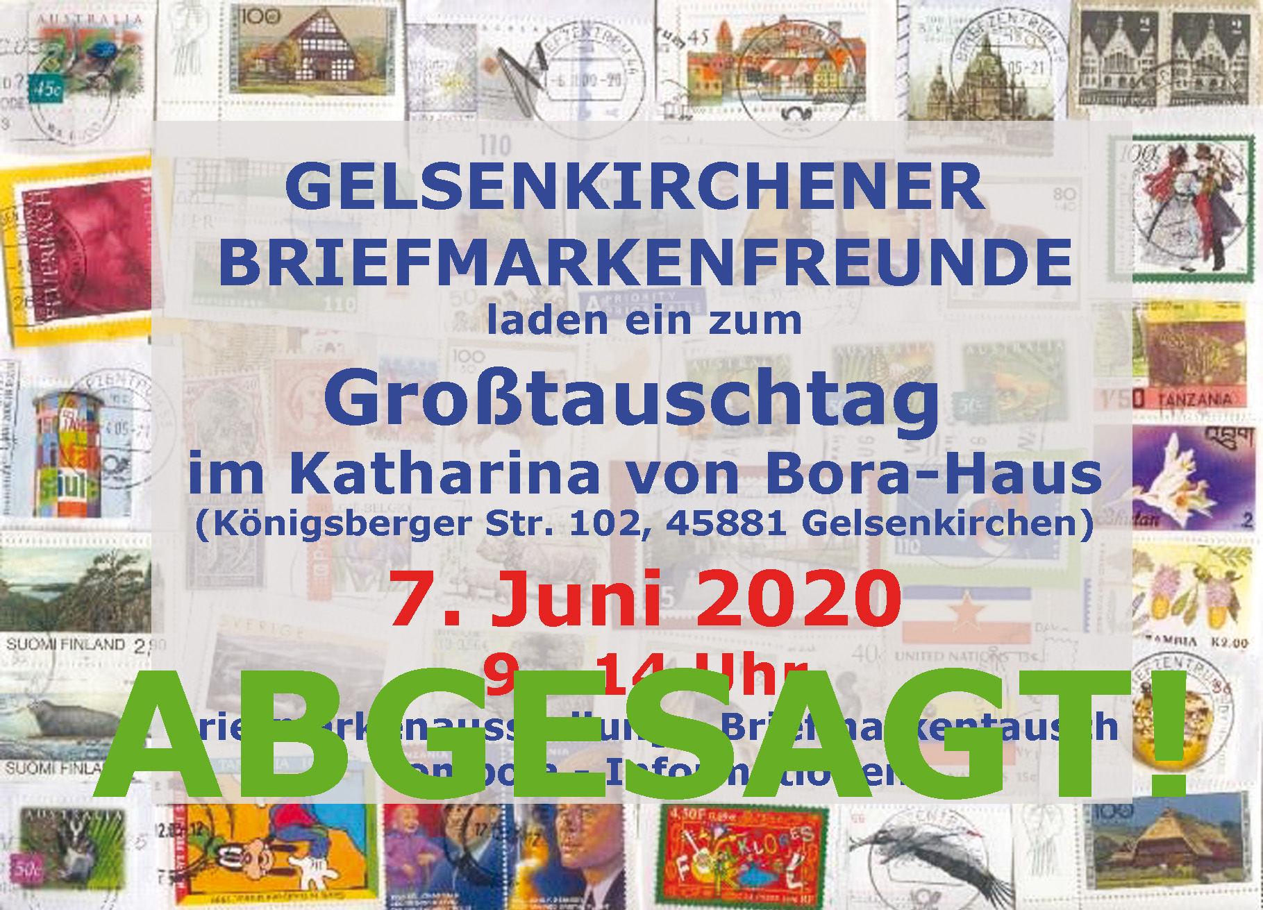 Grosstauschtag in Gelsenkirchen abgesagt